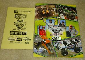 Lot of 2 2005 Monster Jam World Finals All Access Monster Truck Scorecards!