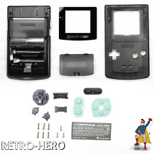Gameboy Color Gehäuse Display Game Boy Batterie Deckel Tasten Case Shell Schwarz