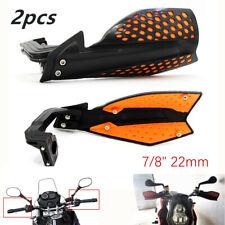 """1 Pair Motorcycle Parts Hand Guard Handlebars Wind Deflector Protector 7/8"""" Bike"""