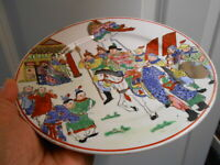 Antique CANTON Plate Chinese Story Telling Hand Painted Antique 1800s