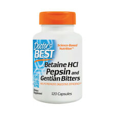 Betaine HCl, Pepsin & Gentian Bitters,  120 Capsules - Doctors Best - Digestion