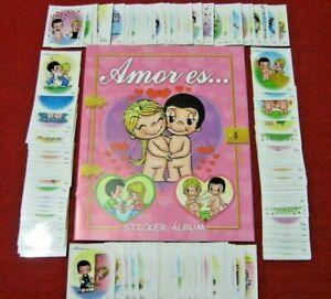 ORIGINAL Navarrete Love is Kim Casali Grove Amor es Album Complete Set Stickers