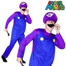 80s Cartoon Waluigi Super Mario Bros Nintendo Video Game Men Fancy Dress Costume
