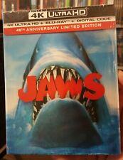 New listing Jaws 4K Uhd + Blu-Ray + Lenticular Slipcover 45Th Anniversary Like-New No Code