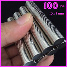 100 PCS Bulk Round Disc 10mm x 1mm Disc Magnets Super Powerful NdFeB Magnet N35