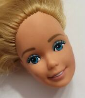BARBIE DOLL HEAD ONLY FOR REPLACEMENT OR OOAK SUPERSTAR ERA BLONDE PINK LIPS
