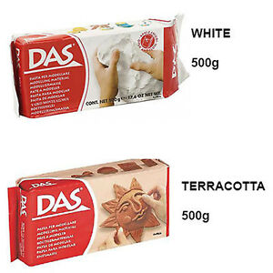 DAS Air Drying Modelling Clay for Art & Craft in White or Terracotta - 500g