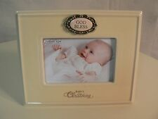 Amscan Grasslands Road BABY CHRISTENING Photo Frame 4x6 NEW in box Ceramic