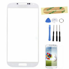 White Front Outer Screen Glass Lens For Samsung Galaxy S4 S IV GT-i9500 + Tools