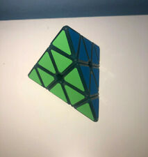 Translucent Blue Glowing Pyraminx Speed Cube 3x3 Twisty Puzzle Pyramid Toy