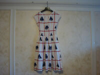 NWT $395 Tory Burch  SAIL DRESS  4  White