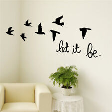 New Arrival Black Flying Birds Wall Sticker For Kids Rooms Decals Poster