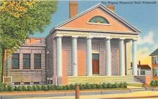 Plymouth Massachusetts~Pilgrim Memorial Hall~House Next Door~1940s Linen PC