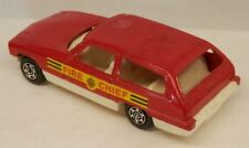 "Vintage Corgi Cubs ""Fire Chief"" 2-Door Station Wagon Red Made in Gt.Britain"