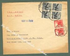 REPUBBLICA ITALIANA. Storia Postale. Lettera aerea del 1947 da Roma x gli U.S.A.