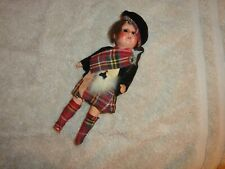 """Armand Marseille 8"""" #1210V Scottish Lassie Clothed Bisque Doll For Repair-Look"""
