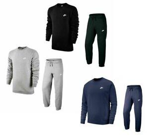 Nike Men's Sportswear Club Crew Neck Fleece Sweatshirt Joggers 804340