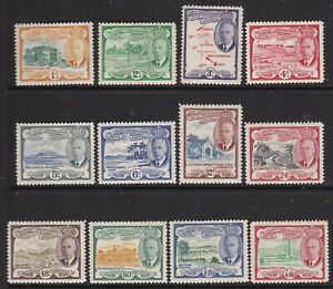 ST KITTS-NEVIS 1952 KGVI DEFINITIVE SET MINT, MOST LIGHTLY HINGED