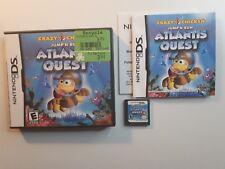 Crazy Chicken: Atlantis Quest - Nintendo DS Game - CIB COMPLETE - FREE SHIPPING!