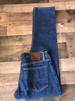 Gustin Mens California Raw Selvedge Cotton Straight Fit Denim Jeans Size 32 X 30