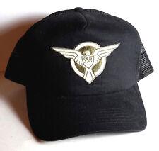Captain America SSR Trucker Style BLACK  Baseball  Cap/Hat- FREE S&H