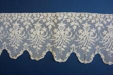 Antique Vintage Embroidered Lace 16.5cm Ecru Off White For Dress /Doll 1m length