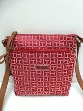 TOMMY HILFIGER Women's XBody Messenger Bag *Red Wine Color Shoulder Purse New