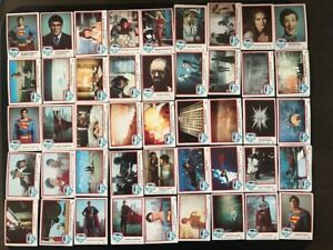 1978 Superman The Movie Lot of 153 Trading Cards & Stickers Topps VG