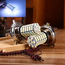 2X 12V Xenon White H4 9003 3528 120-SMD LED Light Bulb High Low Beam Lamp
