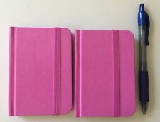 "2-pack New Small Pink Hardcover Pocket Notebook Journal 96 Pages 4.5 x 3"" Ruled"