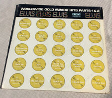 Elvis' Worldwide Gold Award Hits Parts 1&2 Double LP Mono RCA Victor R213690