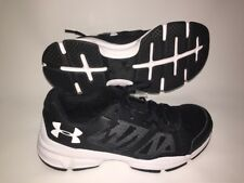 NEW MENS UNDER ARMOUR 1285703 001 ZONE 2 8.5 Blk/wht/wht