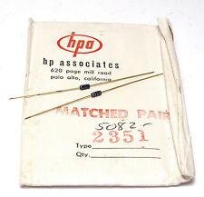 Schottky-Dioden-Paar Hewlett Packard Associates 5082-2351 für HP-Meßtechnik, NOS