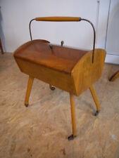 50/60er Teak Nähkasten Vintage Danish modern mid century Sewing Box Nähwagen