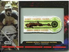 Star Wars Galactic Files Embroided Patch Relic Card PR-30 Scout Trooper