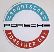 PORSCHE SPORTSCAR TOGETHER DAY 2019 STICKER DECAL 911 NEW RAR