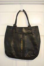 Liz Claiborne Black Faux Pebbled Leather Large Shopper Tote Shoulder Bag  Handbag 625ffb6915671