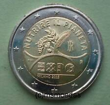 Italia 2 EURO MONETA COMMEMORATIVA 2015 EXPO MILANO EURO MONETA Commemorative Coin