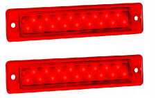 TRAILER STOP/TAIL RECESSED X 2 LAMPS RED LENS 12 VOLT 25 SERIES LED AUTOLAMPS