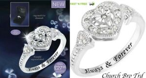 New Avon Lacey Diamond Ring From The Eternal Collection 0.1 Carat Size 8 BNIB