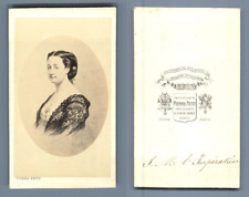 L'Impératrice Eugénie CDV, Vintage albumen  Carte de Visite,  Tirage albu