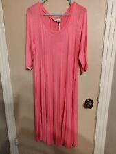 Pastel Size 2XL Pink Swing Dress