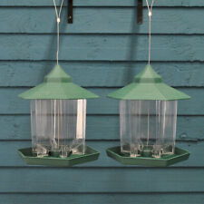 More details for factory second - 2 x durlston green chalet bird seed & nut feeders