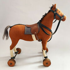 Rare 1920's Steiff Horse on Wooden Wheels in Remarkable, Original Condition