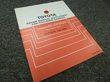 1990 1991 1992 Toyota Supra w/ Sport Roof Body Collision Service Repair Manual