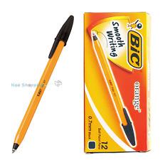BIC Orange Fine 0.7mm Easy Glide ball point pen 1 BOX 12 PCS - BLACK