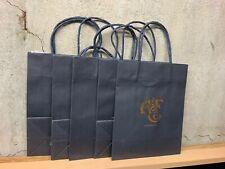 5 Pack Abercrombie & Fitch Paper Bags Black 10 X 8 X 4 Authentic Original  Lot