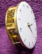 Molto insolita FUSEE LEVA Orologio da taschino movimento intorno al 1840