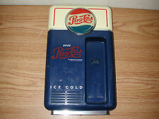 "VINTAGE 8"" X 14"" PEPSI-COLA PLASTIC WALL MOUNTED VENDING MACHINE TELEPHONE"