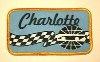 Vintage Charlotte Motor Speedway Blue NASCAR Patch New NOS 1970s
